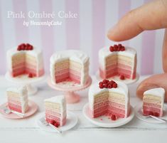 "2,028 Likes, 12 Comments - HeavenlyCake miniatures (@heavenly_cake) on Instagram: ""ひたすらにオンブレっております"""