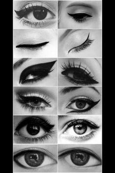Variations of eyeliner lines