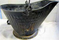Vintage Coal Bucket - My Grandma always had one in her dining room sitting beside her coal stove, We had one in our basement beside our coal furnace. Vintage Tools, Vintage Items, I Love My Grandma, Coal Stove, Feelin Groovy, Antique Stove, Coal Miners, Tablewares, Treasure Hunting