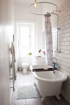 White bathroom ideas and my tips for stress relief with Bathtub