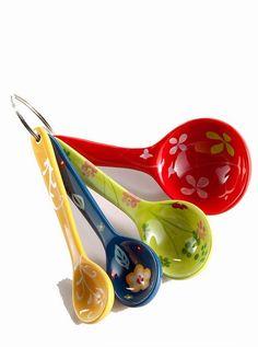 Floral Measuring Spoons #Anthropologie #PinToWin