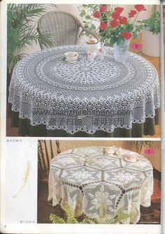Manteles - Ana Garcia - Álbuns da web do Picasa Crochet Table Topper, Crochet Tablecloth Pattern, Crochet Doily Diagram, Crochet Bedspread, Crochet Doilies, Crochet Lace, Crochet Patterns, Mantel Redondo, Fillet Crochet