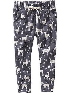 Patterned Fleece Joggers for Baby | Old Navy