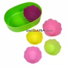 Japanese Bento Silicone Food Cup 5pc 2 Sizes - these would be very useful