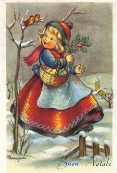 Illustration de Maria Pia Franzoni Tomba. Hello there, Birdie!