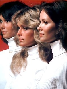 Jacelyn Smith, Farrah Fawcett & Kate Jackson in The Charlie's Angels, 1976