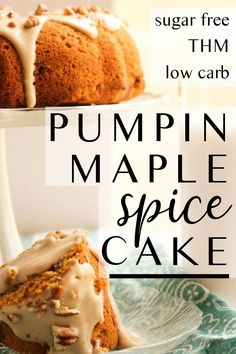 This sugar free spice cake is made with moist pumpkin and topped with low carb creamy maple frosting The ultimate is decadence this sugar free low carb dessert cake is pe. Low Carb Dinner Recipes, Sugar Free Recipes, Low Carb Desserts, Pumpkin Recipes, Healthy Desserts, Fall Recipes, Low Carb Recipes, Sugar Free Spice Cake Recipe, Healthy Southern Recipes