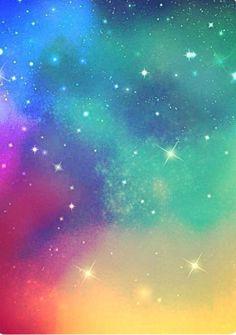 A sparkly kinda rainbow galaxy background. Perfect for edits!