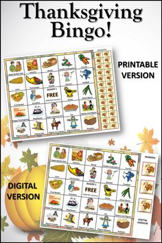 Thanksgiving Bingo is a perfect Thanksgiving activity to keep kids and adults engaged and entertained. Includes both printable and digital versions for school or home. 30 boards for large group play. Includes markers or provide your own. #thanksgiving, #thanksgivingactivities, #thansgivingfun Thanksgiving Bingo, Thanksgiving Crafts For Kids, Thanksgiving Activities, Thanksgiving Recipes, Fall Crafts For Toddlers, Lesson Plans For Toddlers, Toddler Crafts, Kids Crafts, Turkey Disguise