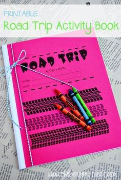 Printable Road Trip Activity Book from The Benson Street {contributor}