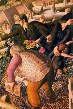 Sir Stanley Spencer(1891ー1959)「The Resurrection - Waking Up 2」