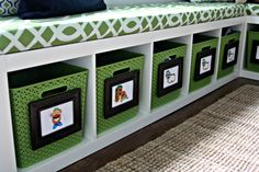 Great idea for keeping kids rooms neat, organized and clutter-free
