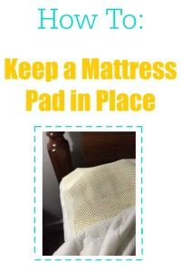 Here's an easy way to keep your mattress pad from slipping.