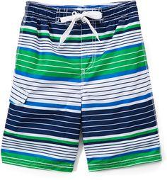 7c95b52fc5 Kanu Surf Navy & Green Blake Stripe Boardshorts - Toddler & Boys Navy And  Green,