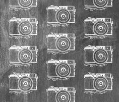 Retro Camera Chalkboard fabric by longfellow on Spoonflower - custom fabric