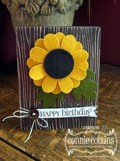 Felt Sunflower1