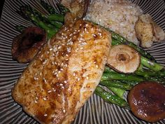 Get Off Your Tush and Cook: Miso Glazed Cod with Asparagus and Shitakes