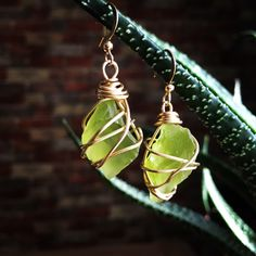 A personal favorite from my Etsy shop https://www.etsy.com/listing/493366115/sea-glass-wire-wrapped-earrings-with