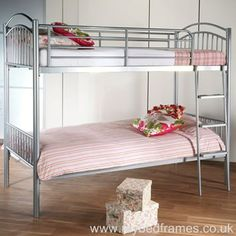 Duo metal bunk bed from MyBedFrames Adult Bunk Beds, Metal Bunk Beds, Types Of Beds, Bed Frame, Furniture, Home Decor, Bunk Beds For Adults, Bed Base, Decoration Home