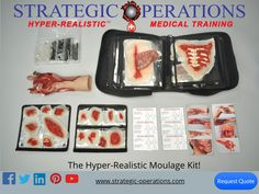 The HRMK is a high fidelity wound replication kit, Hollywood grade special effects! Special Effects, Firefighters, Law Enforcement, Medical, Hollywood, Training, Kit, Food, Firemen