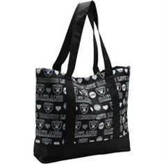Oakland Raiders Women's Love Print Tote Bag
