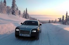 Rolls Royce Ghost, extended wheelbase winter testing. Arjeplog, Sweden. January, 2011.
