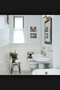 Gorgeous 1920's inspired bathroom.