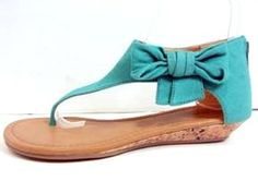 """**Coupon Code!** These darling sandals are only $30.60, PLUS get 10% off your entire order & FREE shipping with discount code """"SAVE10"""" at checkout! #shoes #sandals #turquoise #seafoam"""