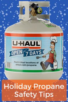 Are you using your propane year-round? These tips will keep you safe when using propane during the holiday season. Click through to see how to keep your family safe (and warm) this winter. Moving Truck Rental, Safety Tips, Warm, Bottle, Winter, Holiday, Winter Time, Vacations, Flask
