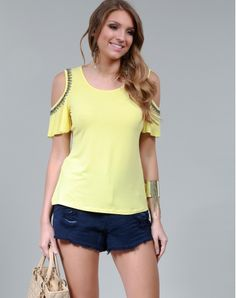 BLUSA OPEN-SHOULDER - TPBL0642