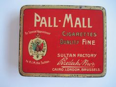 Excited to share the latest addition to my #etsy shop: Pall - Mall Fine Egyptian cigarette tin (20/empty) by SULTAN FACTORY formerly Przedecki Bros c.1910 http://etsy.me/2EvtWB2 #vintage #collectables #cigarettetin #egyptian #tobaccocollectibles
