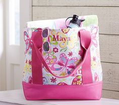 Pink Butterfly Tote #PotteryBarnKids