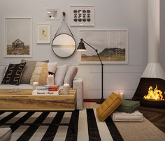 Charmant A Hygge Hideaway. Rustic Living RoomsFormal Living RoomsModern Living Room  FurnitureSmall ...
