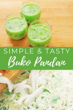 Relish the best Buko Pandan ever! A most delectable Filipino dessert made of 7 Ingredients only! Check out our video tutorial and try it today! Filipino Dishes, Filipino Desserts, Filipino Recipes, Cuban Recipes, Fruit Recipes, Dessert Recipes, Cooking Recipes, Creative Desserts, Easy Desserts