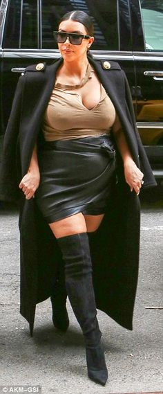 Fan favourite:Kim is in New York for the city's fashion week, and so has even more eyes assessing her clothing choices than usual