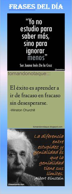 Frases del Dia, Frases Célebres