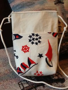 Sailcloth crossbody hand bag small purse hipster tote made of recycled sail, nautical fabric zip front pocket, zip top, gift for sailor by Sailknot on Etsy