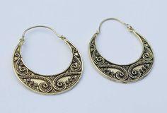 Tribal Brass Earrings Gypsy Earrings Bohemian by YemayaSoul