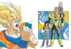 Goku and Androids and 18 Dragon Ball Z, Dragon Z, Dragon Ball Image, Ball Drawing, Dbz Characters, Goku Super, Slash, Game Character Design, Manga Love