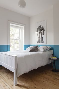 Brooklyn color-blocked bedroom in a townhouse remodel by Elizabeth Roberts/Ensemble Architecture | Remodelista