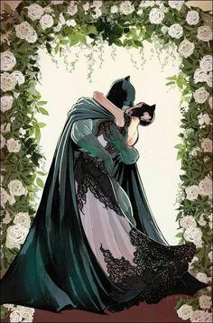 Portada del Batman núm. 50 de la Boda de #Batman y #Catwoman por Mikel Janín.