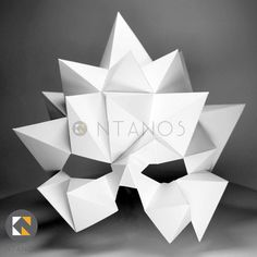 Geometric low poly papercraft mask Blast by Ntanos Paper Glue, 3d Paper Crafts, Make Your Own, Make It Yourself, Paper Mask, Mask Design, 3d Design, Animal Masks, Halloween Masks