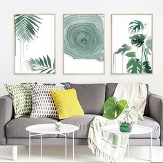 Green Leaves Watercolor Print Tree Round Circle Abstract Canvas Painting Poster Art Print Poster Home Picture Wall Decoration Wall Decor Pictures, Home Pictures, Bedroom Wall, Bedroom Decor, Large Bedroom, Bed Room, Farmhouse Wall Decor, Wall Canvas, Abstract Canvas