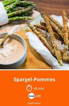 Spargel-Pommes mit Knoblauch-Dip - smarter - Kalorien: 228 kcal - Zeit: 45 Min. | eatsmarter.de