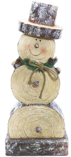 """Snowman Statue - make mini with slices from """". - Weihnachten Holz Wooden Snowman Statue - make mini with slices from """". - Weihnachten Holz - Wooden Snowman Statue - make mini with slices from """". Wooden Christmas Crafts, Outdoor Christmas Decorations, Rustic Christmas, Christmas Projects, Holiday Crafts, Christmas Diy, Christmas Ornaments, Primitive Christmas, Father Christmas"""