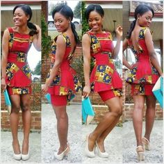 Ankara Dress with long Peplum top