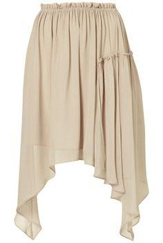 Asymmetric Chiffon Skirt in Grey {Topshop}