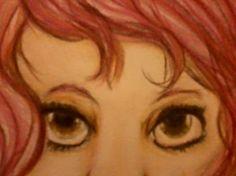 rose ilustracion original a lapices de color