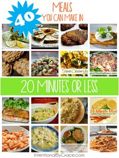 40 Meals You Can Make in 20 Minutes or Less