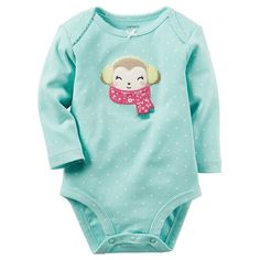 ab0d19e002e Baby Girl Carter s Embroidered Applique Patterned Bodysuit